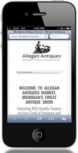 Allegan - Mobile Web Design