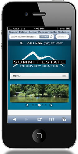 Summit Estate Mobile Web Design