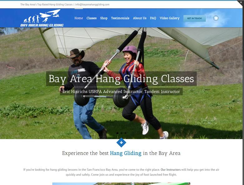 Bay Area Hang Gliding Web Design San Jose