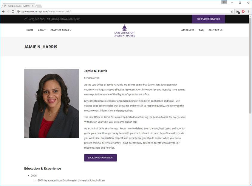 Bay Area Ace Attorneys Web Design San Jose