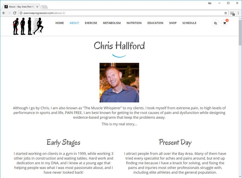 Personal Trainer Web Design Personal Trainer Website Designer San Jose