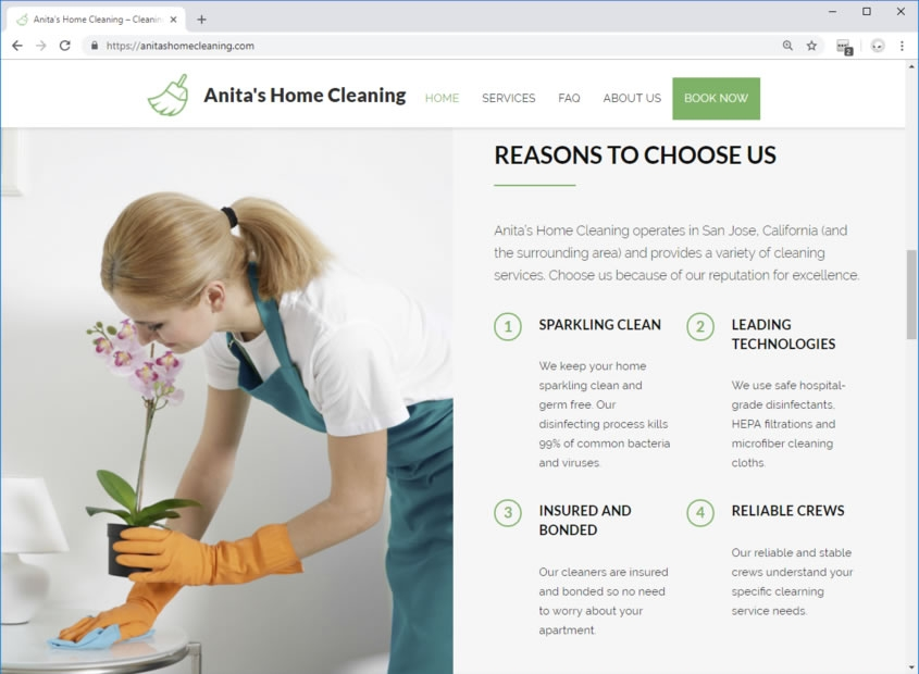 House Cleaner Web Design House Cleaning Website Design Company