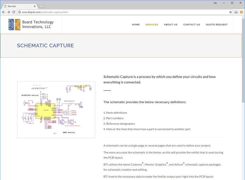 Printed Circuit Board Web Design, PCB Web site Design in San